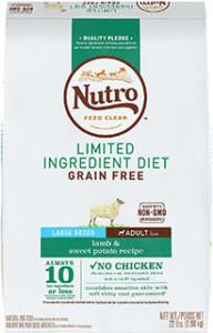 Nutro Limited Ingredient Diet Adult - •Best grain-free dog food for skin allergies