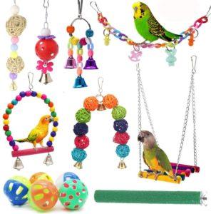 ICOSHOW Bird Parrot Swing Toys