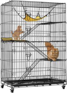 VIVOHOME 4-Tier Kitten Ferret Cage
